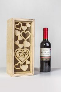 cajas de madera para vino - detalles invitados boda